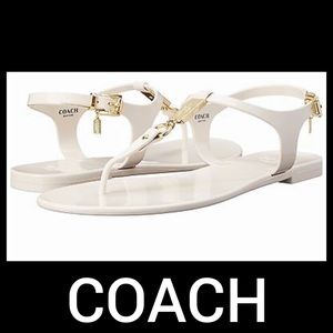 Coach White Jelly Sandals